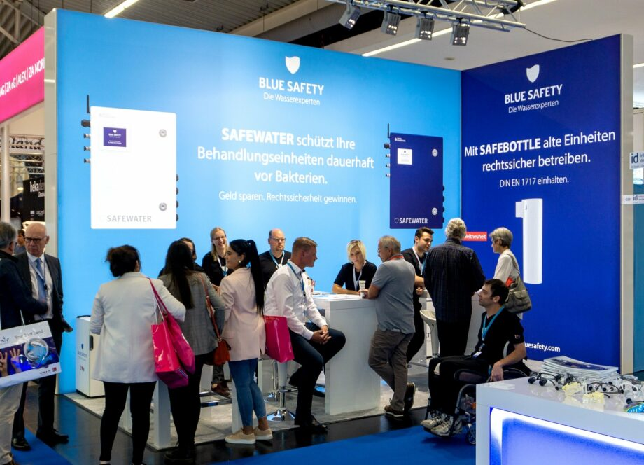 BLUE SAFETY Messestand