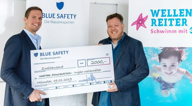 BLUE-SAFETY spendet an Projekt Wellenreiter